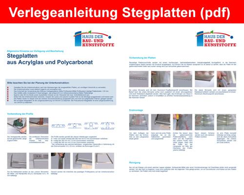 Verlegeanleitung Stegplatten (PDF)