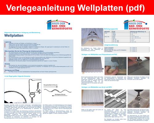 Verlegeanleitung Wellplatten (PDF)